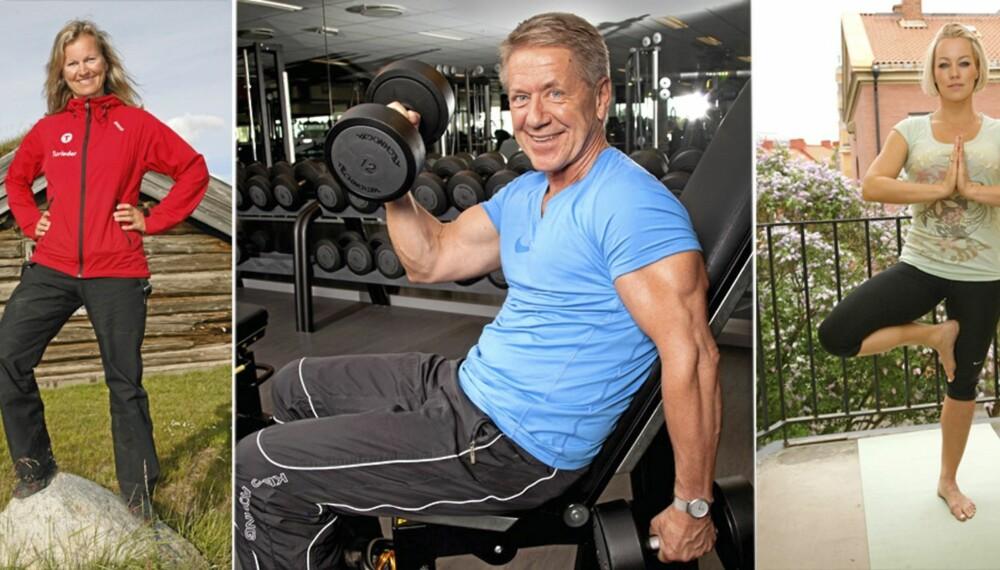 GODE RÅD: Norske kjendiser gir deg tipsene for at du skal komme i form.