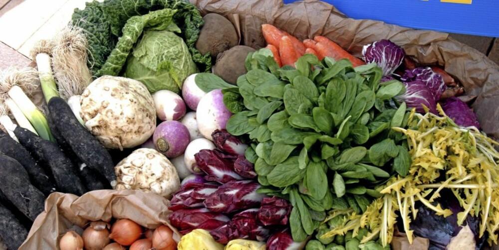 GRØNNSAKER: Spis masse fargerike grønnsaker som inneholder mye av de sunne karbohydratene.
