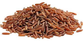 RØD RIS: Den røde risen er nokså klebrig og har en intens smak.