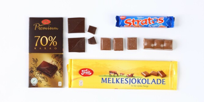 FETT: Sjokolade er manges favoritt, men tre ruter melkesjokolade er alt du kan spise om du vil holde deg til 150 kalorier.
