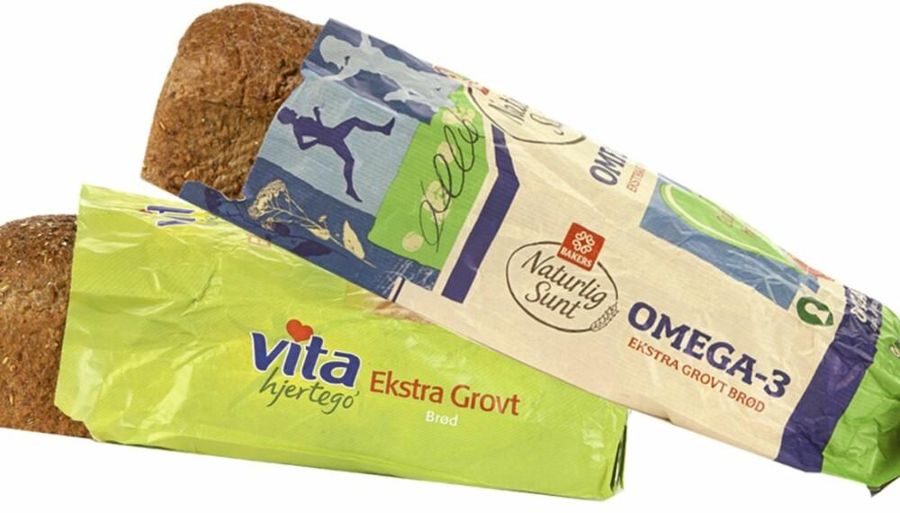 FORSKJELLER PÅ EKSTRA GROVE BRØD: Selv om mange brød fyller hele brødskalaen, er det forskjeller i næringsinnholdet.