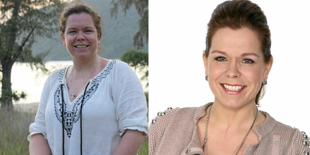 SUPERSLANKER: Jane Filseth Andersen (37) var overbevist om at hun ikke kunne klare å gå ned i vekt. (t.v). Nå er hun 19 kilo lettere. (t.h)