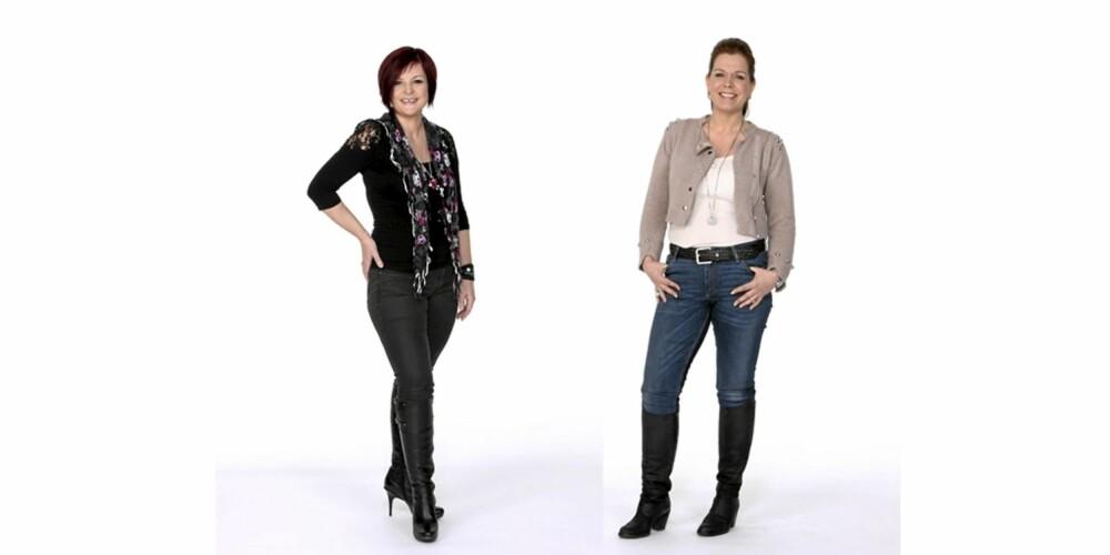 FLOTTE: Slankekurene har gitt Christine Finckenhagen og Jane Filseth Andersen kropper de kan være stolte av.