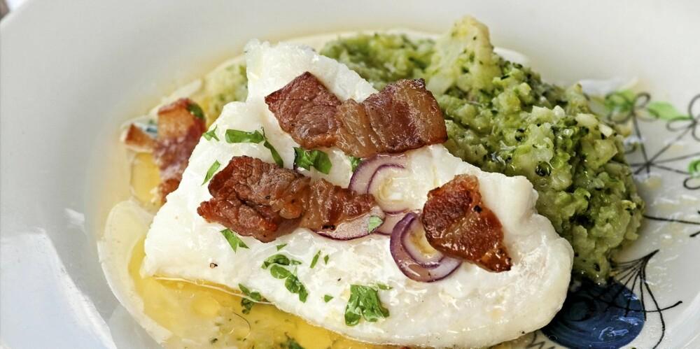 MIDDAG: Fisk med bacon