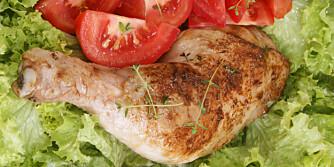 MIDDAG: Et kyllinglår med tilbehør er blant forslagene våre i dag.