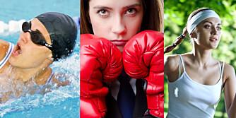EFFEKTIV TRENING: Kardiotrening er forskjellige treningsformer. Løping, svømming og boksing er noen av dem.