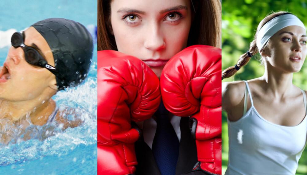 9343a5a3 EFFEKTIV TRENING: Kardiotrening er forskjellige treningsformer. Løping,  svømming og boksing er noen av