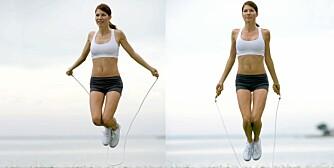 EFFEKTIVT: Kun ti minutter med hoppetau kan være tilsvarende det du forbrenner gjennom en halv times joggetur.