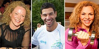 TRIVES MED TRIM: Jeanette Roede, Yngvar Andersen og Kari Jaquesson er alle proffe på kosthold og trening.