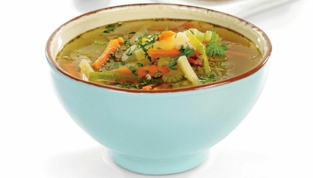SUNN SUPPE: Hjemmelagede supper er fulle av vitaminer, mineraler, fiber og andre ting som kroppen din trenger påfyll av.