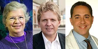 LAVKARBO-EKSPERTER: Karin Hvoslef, ernæringsrådgiver i ernæringsfirmaet Næringsvett, lege Torkil Andersen og lege Fedon Lindberg.