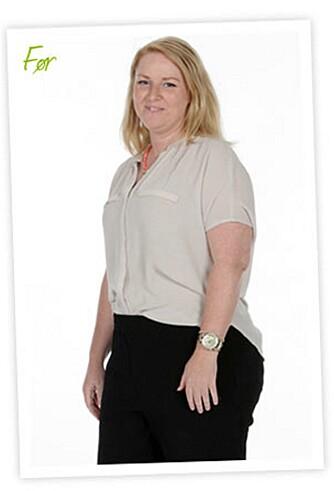 FØR: Lene ville bli kvitt magen. Det ble lettere enn hun hadde trodd.