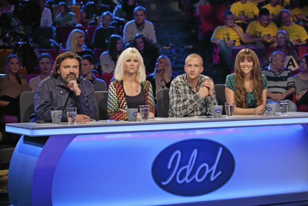DOMMERE: Marion Ravn er dommer i «Idol». Her sammen med Hans-Erik Dyvik Husby, Gunnar Greve Pettersen og Bertine Zetlitz.