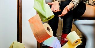 DIARÉ: Sørg for nok toalettpapir ved diaré.