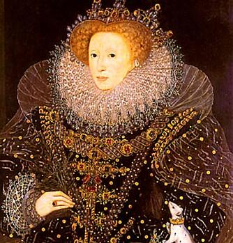 STRAM: Dronning Elizabeth 1., som altså badet en gang i måneden.