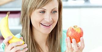 FRÅTS I VEI: Spis gjerne frukt mellom måltidene.