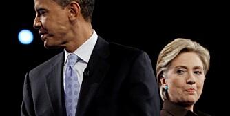 SKITTKASTING: Presidentkandidatene Barack Obama og Hillary Clinton gikk gjennom en bitter nominasjonsprosess.
