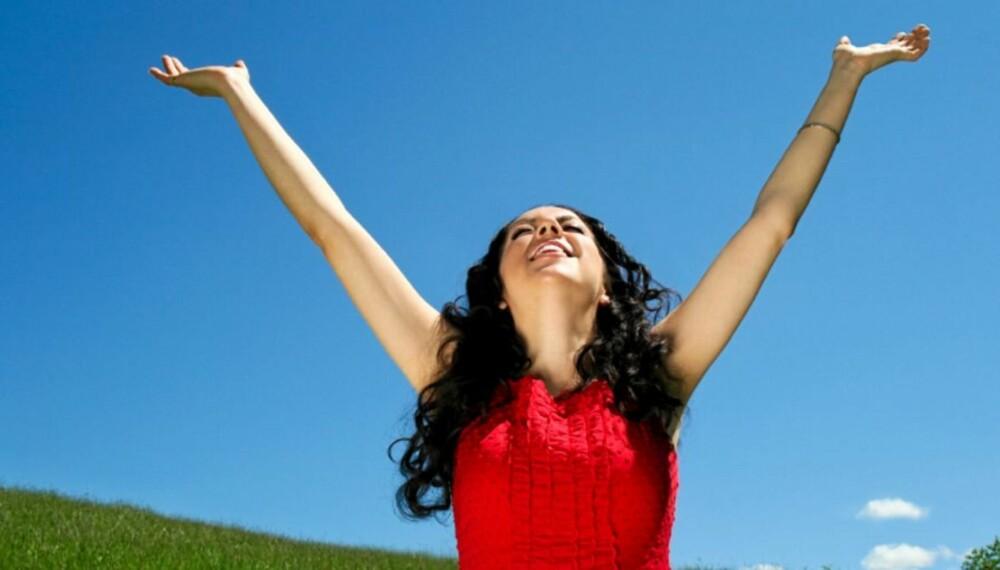 GLEDE: Et livsglad menneske har bedre helse og lever lenger. Men lykken er oppnåelig for alle.