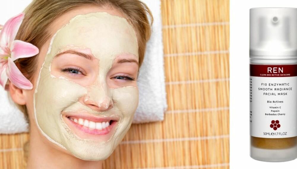 SKINNENDE HUD: Få en skinnende og nypolert hud med F10 Enzymatic Smooth Radiance Facial Mask fra REN.
