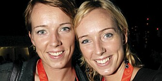 HVEM BLIR ELDST? Tvillinger og håndballspillere Kristine Lunde (til venstre) and Katrine Lunde Haraldsen er sannsynligvis i like god form. Men ser Kristine litt yngre ut enn Katrine? I så fall kan hun komme til å leve lenger enn sin søster. Eller motsatt.