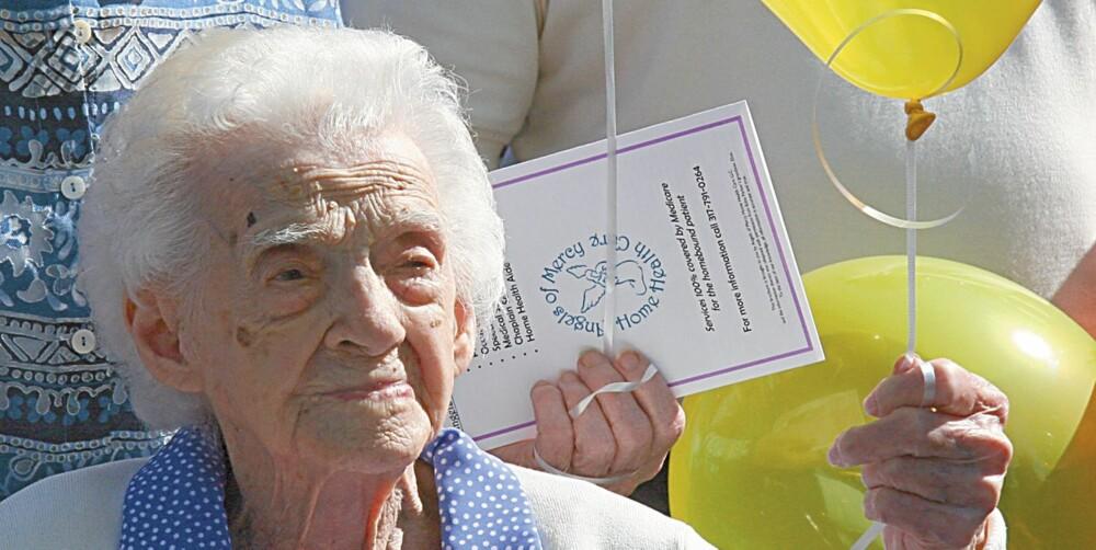 VAR VERDENS ELDSTE: Edna Parker ble 115 år gammel, og døde i 2008. Hun var registrert i Guinnes Rekordbok som verdens eldste. Har danskene rett, må hun ha sett fryktelig ung ut som middelaldrende.