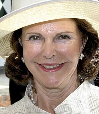 UNGDOMMELIG: Svenske dronning Silvia holder seg godt, særlig takket være plastiske inngrep i ansiktet. Halsen har ikke dronningen kunnet operere, noe man tydelig ser på dette bildet.