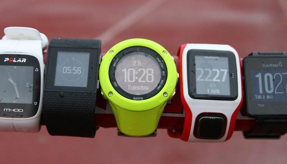 PULSKLOKKE TEST MED GPS: Vi har testet fem pulsklokker