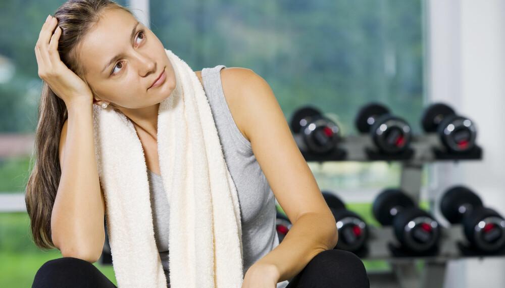MOTIVERT: Det hjelper lite med medlemskap på treningssenteret hvis du ikke er motivert til å trene.