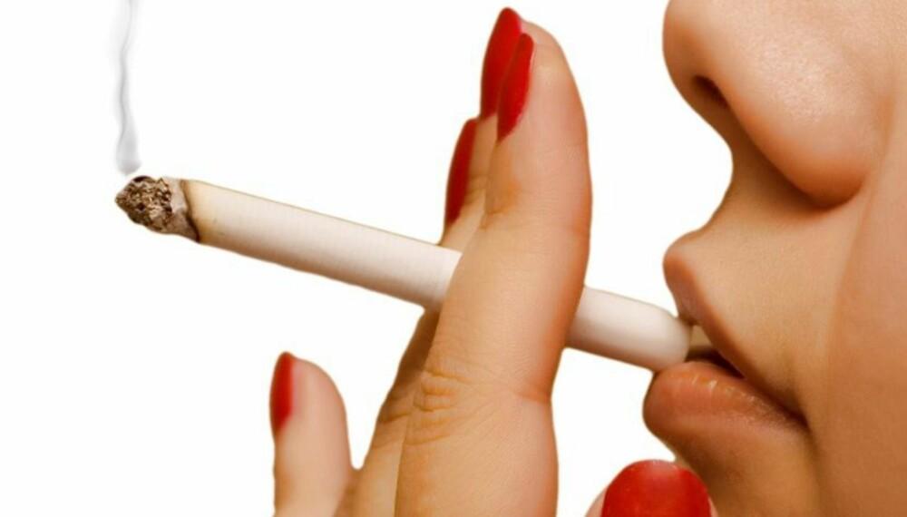 BARE AV OG TIL: Selv om du bare røyker av og til, utvikler du like fullt en avhengighet til nikotin.