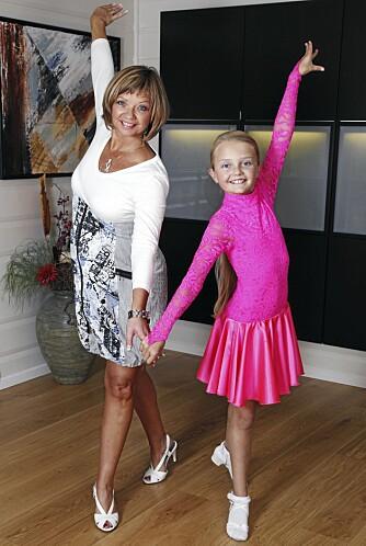 MOR OG DATTER: ¿ Celine er et stort dansetalent, sier Trine om datteren. Begge begynte å danse som fireåringer.