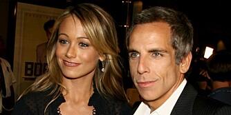 PERFEKT ALDERSFORSKJELL: Ben Stiller er fem år eldre enn sin kjære Christine Taylor. De er dermed ganske nærme det britene oppfatter som det perfekte par.