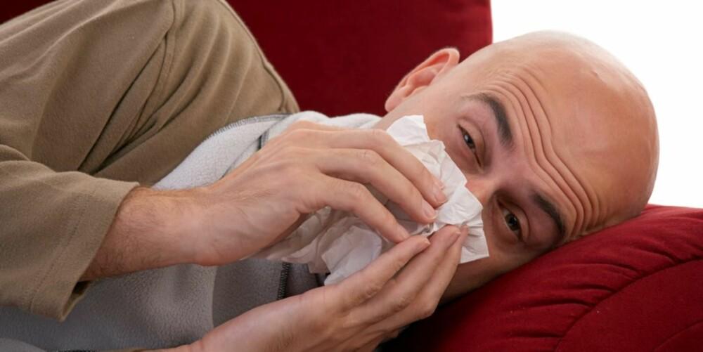 INGEN GARANTI: Vi kan ikke garantere at onani-kuren mot tett nese virker, men det skader jo ikke å prøve!