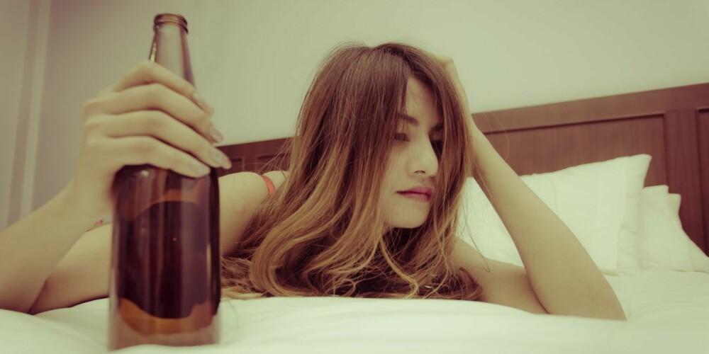 KUTT UT ALKOHOL: Hvis du snorker, bør du aller helst unngå alkohol helt.