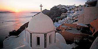 SANTORINI: Denne greske øya er reiseselskapet Apollo sin absolutte romantiske favoritt.