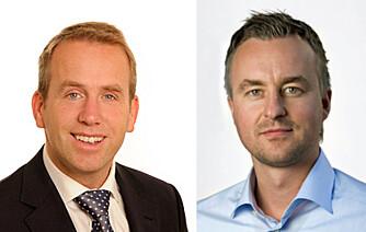 EKSPERTKILDER: Henrik A. Jensen, advokat i Advokatfirmaet Legalis AS og Pål Rune Eklo, kommunikasjonsrådgiver i Gjensidige Forsikring ASA. FOTO: Privat