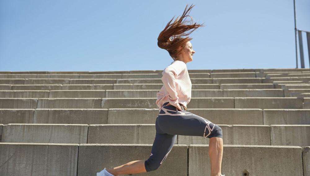 STYRKE: Trening i trapp er en supereffektiv måte å få opp styrken i beinmuskulaturen.