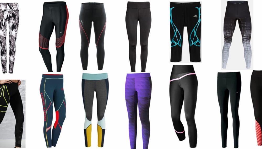 TEST AV TRENINGSTIGHTS: Vi har testet 13 forskjellige tights! FOTO: Produsentene