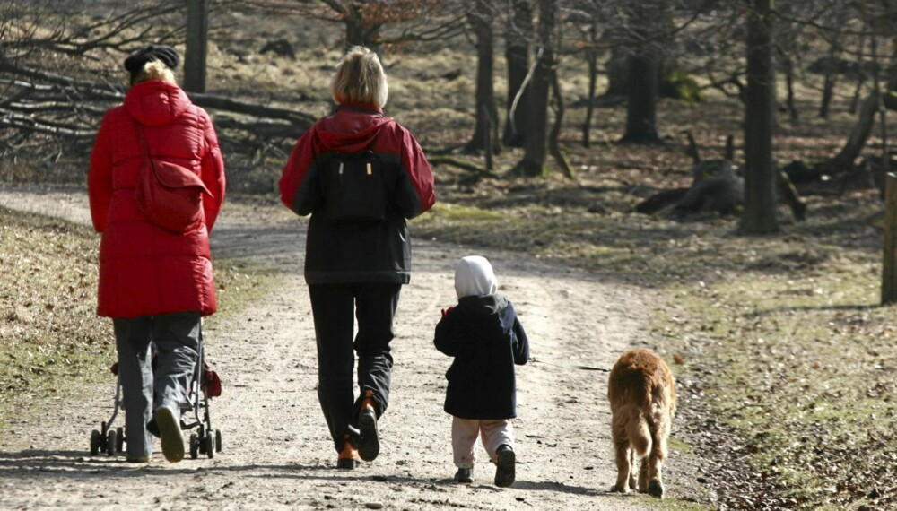 FAMILIEAKTIVITET: Ofte bidrar en hund til at hele familien beveger seg mer, barna utvikler tidligere empati og ansvarsfølelse, og for enslige gir hunden godt selskap i tillegg til mosjon.