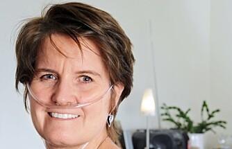 SYSTEMISK SKLEROSE: Karin Eckhoff har samme sykdom som Gunnhild Stordalen. Nå har hun en lungekapasitet på bare 50– 60 prosent, og bruker ekstra oksygen ved behov.
