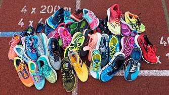 19 SKOPAR: Årets løpeskotest omfatter 10 mengdetreningssko og 9 lettvektssko. FOTO: Petter Berg