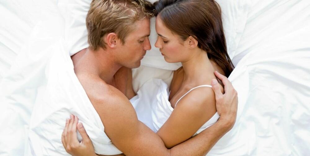 FORELSKET: Sover dere så tett hele natten, er dere sannsynligvis nyforelsket.