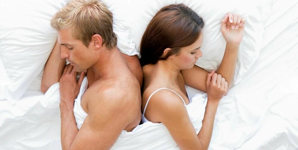 AVSTAND MED KONTAKT: Sover dere fra hverandre, men berører hverandre med enkelte kroppsdeler, er dere nære og avslappet i hverandres selskap.