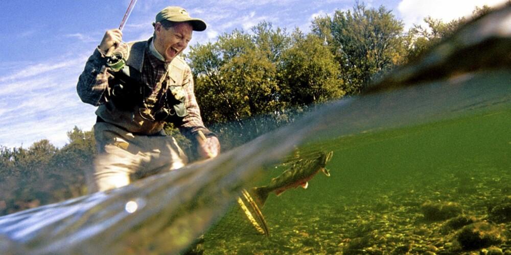 FANGSMANN: Fiske i Trysil kan være både spennende og avslappende.