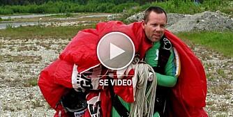 Tormod tester fallskjermhopping