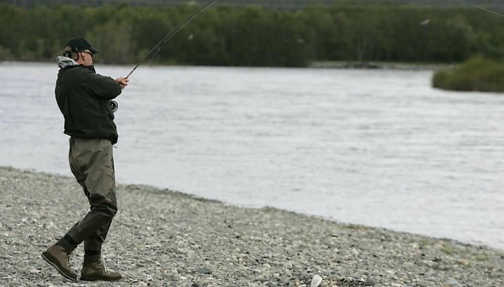 ALTAELVA:Selve drømmen for laksefiskere.