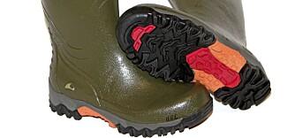 Test av gummistøvler til friluftsbruk