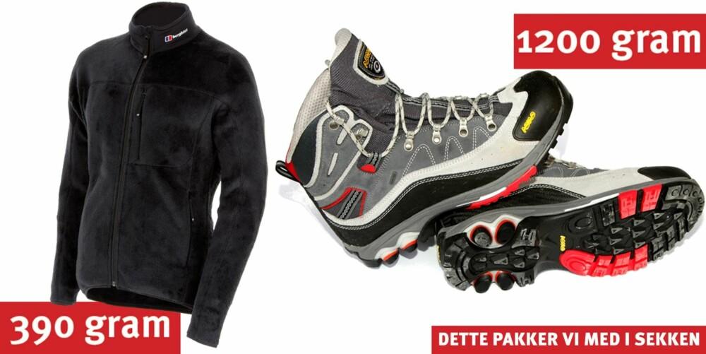 LETTE FJELLSKO: Velg lette sko som gir god støtte og komfort.