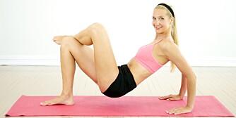 RUMPEMUSKLER: Pilatesøvelsene gjør det mulig å stramme opp rumpemusklene.