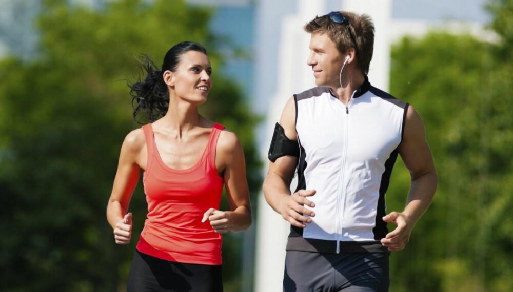 FARTSLEK: La omgivelsene og dagsformen avgjøre intensiteten. Å la treningen være friere kan virke mer motiverende enn å gjøre en fastsatt intervalløkt. Løper du med en venn kan dere konkurrere og ha det moro underveis.