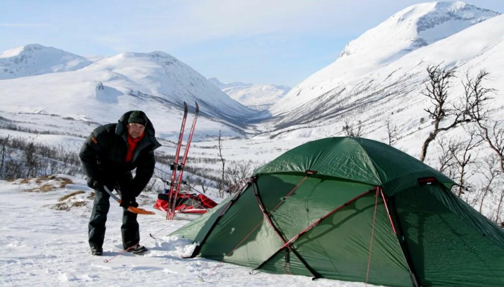 TELTLIV: Velger du et telt som passer behovet ditt, kan du campe ute i villmarka hele året.